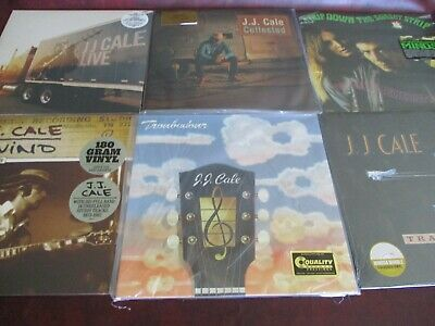 J.J. CALE COLLECTION NATURALLY CONNECTED 49 TRACK SET & TROUBADOUR Sealed 6 LPS