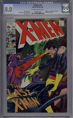 X-Men #59 - CGC Graded 8.0 - Neal Adams Art