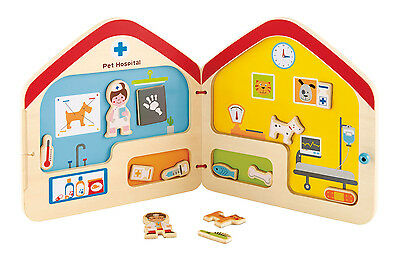 E3016 HAPE Visit the Vet Magnetic Book Wooden Kids [Playscape] Children 3 Years+