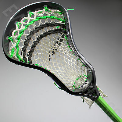 NEW Maverik Charger Lacrosse Complete Lax Stick Attack - Grey Head / Lime Shaft
