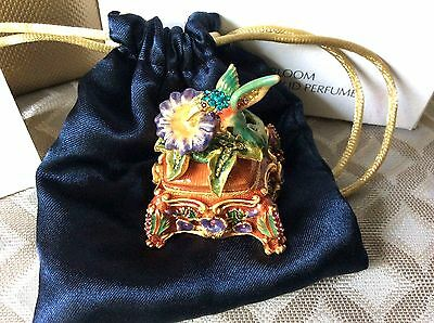 ESTEE LAUDER Bird in Bloom JAY STRONGWATER Solid Perfume Compact in DBL Box
