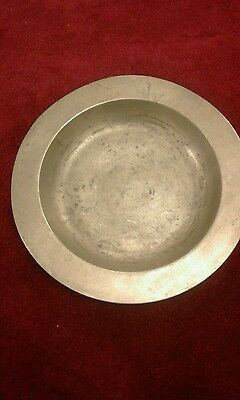 Antique German Pewter Plate, C.1810