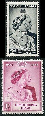 British Solomon Islands SG75/6 1948 Silver Wedding M/M