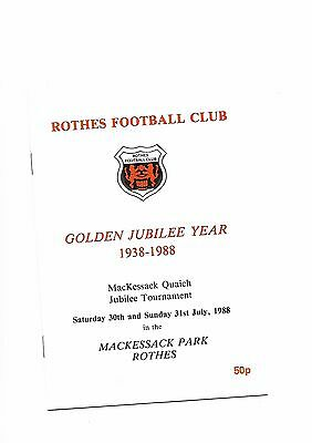 Rothes  v  Hearts/Aberdeen/Montrose, July 1988