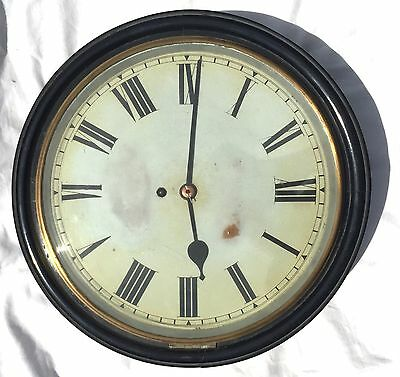 Antique Single Fusee Ebonised Wall Clock