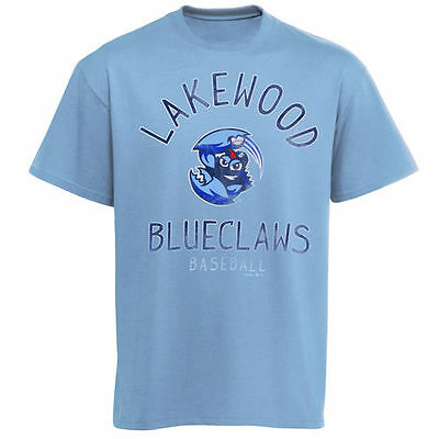 Lakewood Blueclaws Moon Shot Soft Style T-Shirt - Light Blue - MiLB