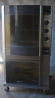 Used HOBART HR7 COMMERCIAL ROTISSERIE OVEN W/ BOTTOM CABINET, Free Shipping!!!