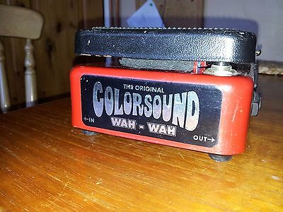 THE ORIGINAL COLORSOUND VINTAGE WAH WAH - in good working condition - COOL Sound