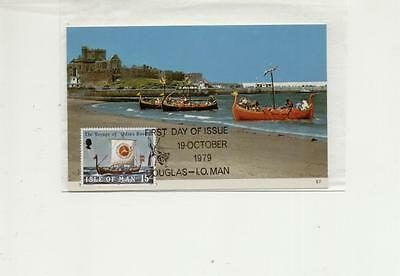 Isle of Man 1979 Voyage of Odins Raven maxi card