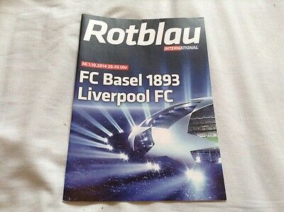 FC Basel v Liverpool FC - 2014/15 Europa League Official Programme