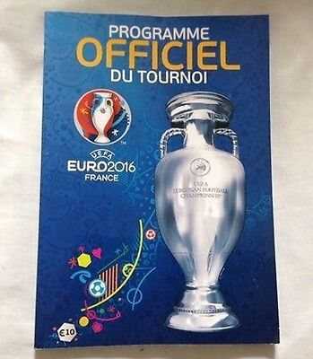 EURO 2016 - FRANCE Official Programme (French Version)(Wales,England,Ireland)