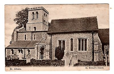Vintage postcard St Michael's Church, St Albans. Wrench Series No. 6295 Unposted