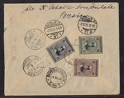 Persien Persia: Scarce R-cover from 1925 to Germany !!
