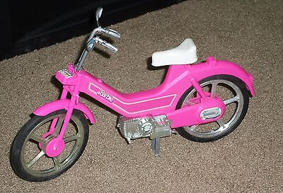 80s Barbie Motorized Bicycle Motor Bike Scooter Motorcycle Pink White Seat GUC