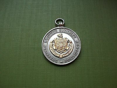 1911, Sheffield Diving Championship, Antique First Prize Silver Medal:s.s.holmes