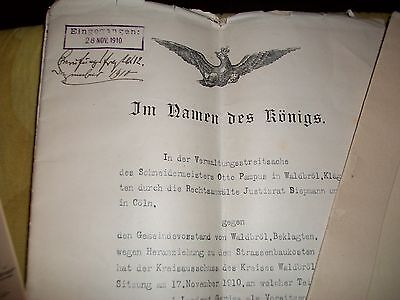1910, Unknown German Documents: Possibly Cologne - Koln?.