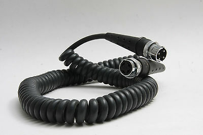 4-Pin Heavy Duty Coiled Cord ~4' - Polaroid Dental Accessory - USED D74
