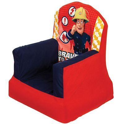 Fireman Sam Cosy Chair Kids New Red Kids Bedroom 100% Official
