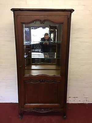 Carved Oak French Glazed Display/shop Cabinet