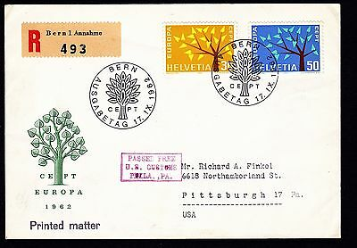 Switzerland - 1962 Europa SG 668-9 Illustrated First Day Cover (see desc)