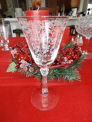 1 Fostoria Romance 7-3/8 Water or Wine Footed Goblet Glass Beautiful