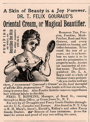 1889 Ad Oriental Cream Dr Gourauds Removes Tan And Moth Patches