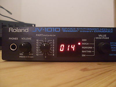 Roland Jv-1010 Synthesizer With Power Supply & Free Uk Shipping