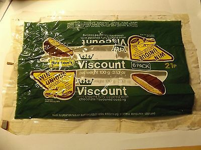 1970s Viscount Chocolate mint biscuit  6 pack wrapper