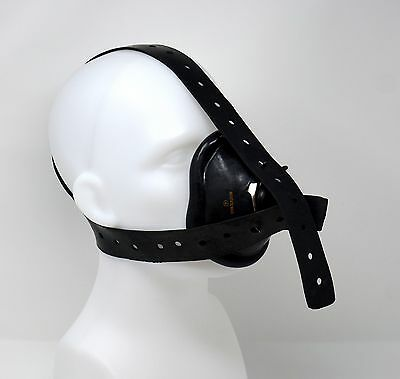 ☢ Anaesthesia Mask Harness - 3 Tail Type - Black Rubber Latex