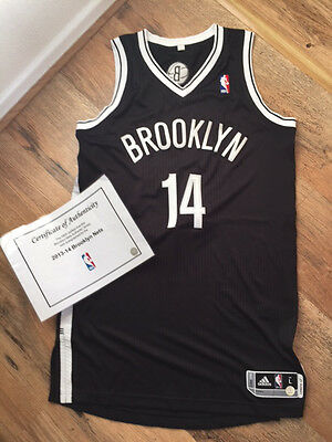 Genuine Signed Brooklyn Nets NBA Jersey 2013-14 with Certificate of Authenticity