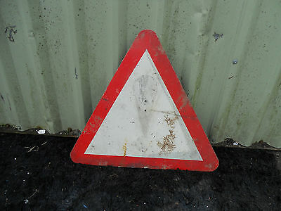 METAL Free STANDING Highway A-BOARD ROADSIGN Road Sign - EXCLAMATION MARK !