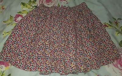 Next girls  pink ditsy floral flippy skater skirt 4-5 years