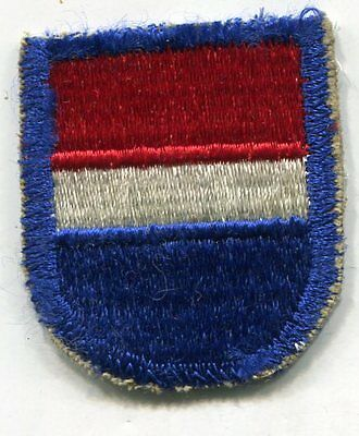 US Army 6th Army Special Operations Support Command beret flash patch cut edge