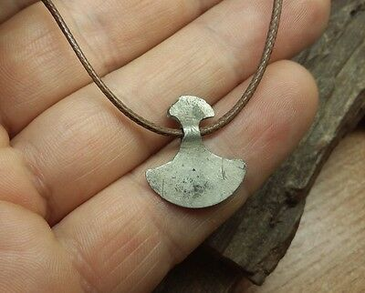"Ancient Silver Viking Suspension-Amulet ""Axe""   #2372"