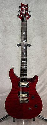 Paul Reed Smith PRS SE Custom 24 electric guitar in transparent red w/ gigbag