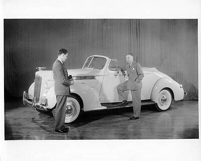 1940 Packard 110 Convertible Coupe ORIGINAL Factory Photo oad2975-IZWT6B