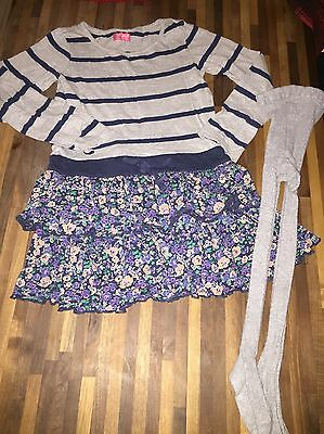 NEXT Girls Dress And Tights Set Age 6 EXCELLENT CONDITION