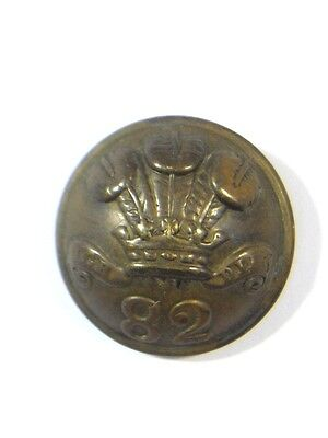 82nd (POW Volunteers) Foot original Victorian o/r's Large Button.