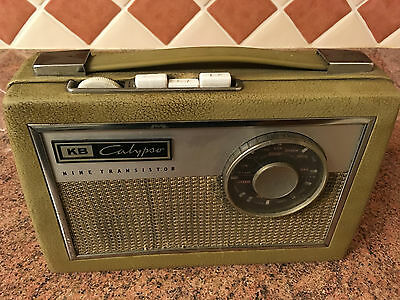 KB Calypso Vintage Early Transistor Radio,c1963,Good Condition,Working Very Well