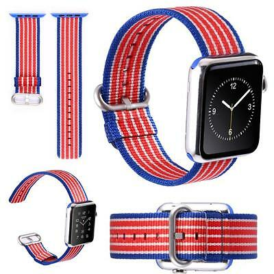 42mm Release Sports Royal Woven Nylon Bracelet Strap Band For Apple Watch HOT