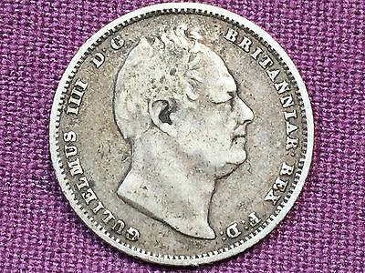 T2: World Coin Great Britain 1834 6 Pence