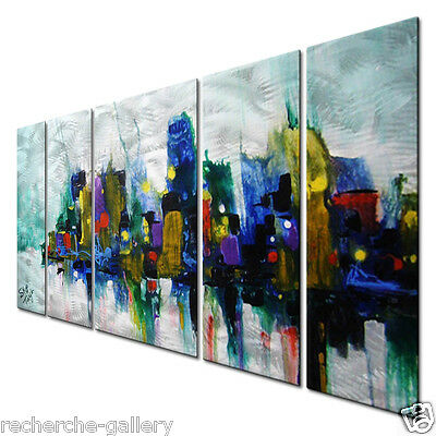 Metal Art Contemporary Modern Abstract Wall Sculpture Painting Home Decor