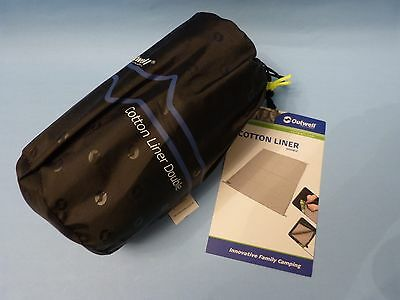 Outwell Cotton Sleeping Bag Liner - Size : Double  - Beige - New With Tags