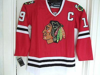 BNWT  Chicago Blackhawks   #19 Toews  Red 'Home' Style  Ice Hockey Jersey    L