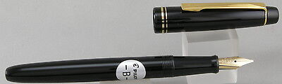 Pilot 78G Black & Gold Fountain Pen w/ Broad Stub Nib - NEW - Japan