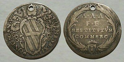 *UNBELIEVABLE* Early Colonial SILVER COIN - 1734 Papal States Clement XII - NICE