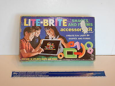 Vintage 1968 Lite Brite Shapes And Forms Accessory Kit 5472 Hasbro