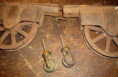 Vintage Pulley Lot Salvaged Hardware Old Pulley's Barn Door Block & Tackle