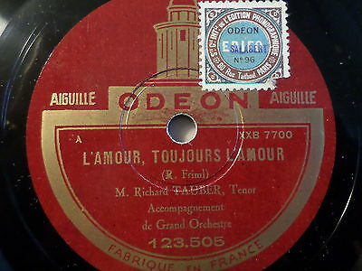 """RICHARD TAUBER """"June Brought The Roses / L'Amour, Tousours L'Amour"""" Odeon 78rpm"""