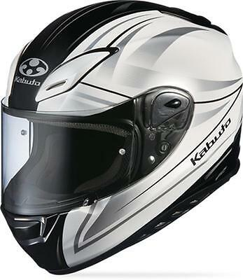 New Kabuto Aeroblade-III Full-Face Graphic Adult Helmet,Linea Pearl White,Med/MD